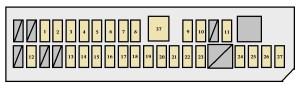 Toyota Dyna 100 (U600 and U800; from 2011)  fuse box diagram  Auto Genius