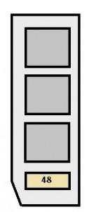 Toyota Highlander (XU20; 2004  2007)  fuse box diagram