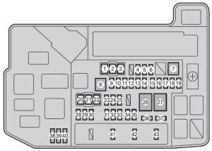 Toyota Prius V (2012)  fuse box diagram  Auto Genius