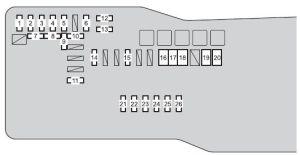 Scion iQ (2015  2016)  fuse box diagram  Auto Genius