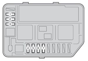 Toyota Yaris Hatchback (2011)  fuse box diagram  Auto Genius