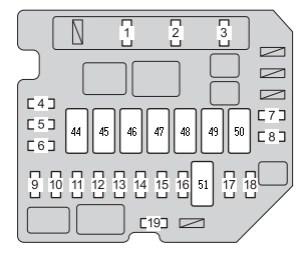 Toyota Yaris mk2 (2007)  fuse box diagram  Auto Genius