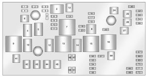 Cadillac SRX (2010  2011)  fuse box diagram  Auto Genius