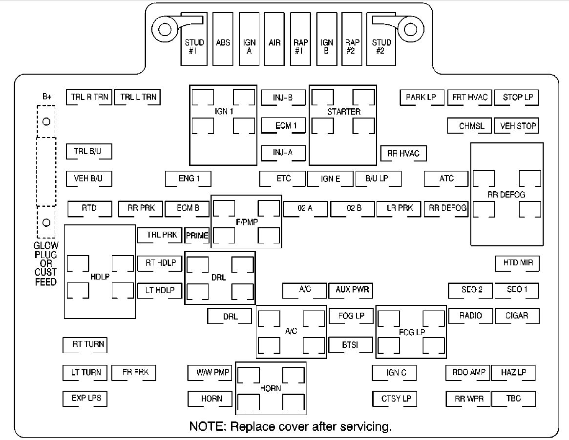 Chevy Auxiliary Roof Mounted Lamp Wiring Diagram