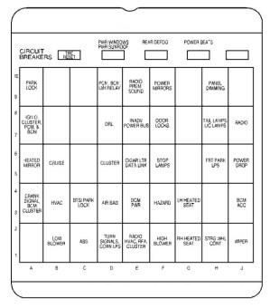 Buick Regal (2000)  fuse box diagram  Auto Genius