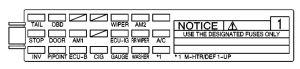 Pontiac Vibe (2004)  fuse box diagram  Auto Genius