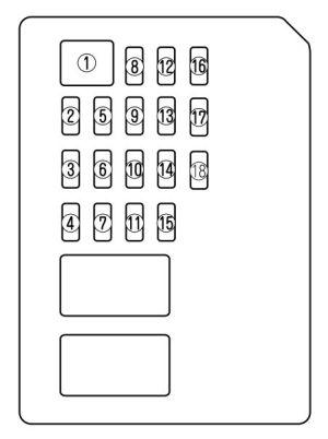 Mazda 6 (2011  2013)  fuse box diagram  Auto Genius