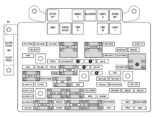 Chevrolet Avalanche (2003  2004)  fuse box diagram