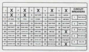 Cadillac Fleetwood (1996)  fuse box diagram  Auto Genius