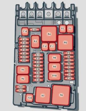 Audi A3 (2015)  fuse box diagram  Auto Genius