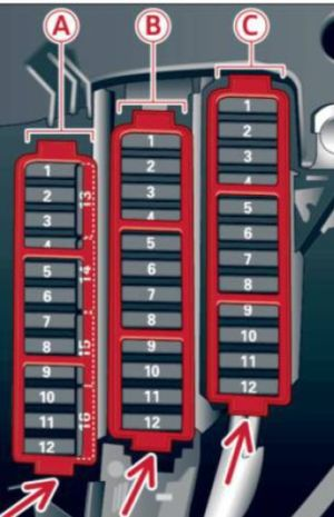 Audi S4 (2013)  fuse box diagram  Auto Genius