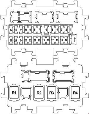Infiniti FX50 (S51, 2008  2017)  fuse box diagram  Auto Genius