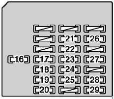 Lexus SC 430  fuse box diagram  Auto Genius