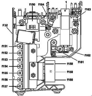 Mercedes Benz CClass w204 (20072014)  fuse box diagram