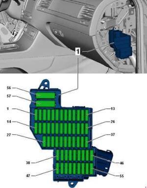 Volkswagen Toured (2010  2018)  fuse box diagram  Auto
