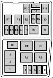 Mercury Mystique (1995  2000)  fuse box diagram  Auto