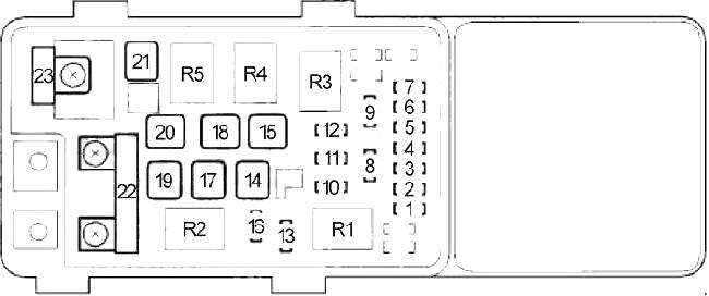 2004 accord fuse box diagram  description wiring diagrams