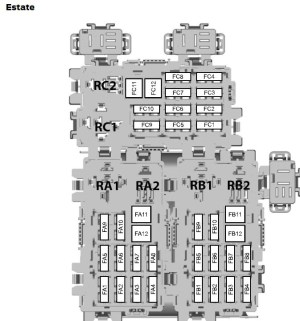 Ford Mondeo (01022007  19082007)  fuse box diagram