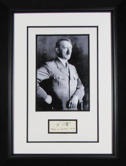 Adolf Hitler Autograph Signed Display