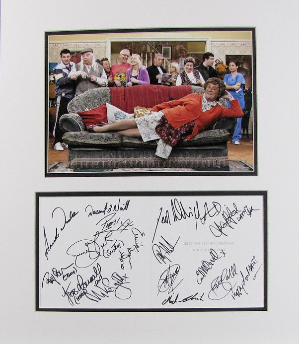 Mrs Brown S Boys Cast Autograph Signed Display
