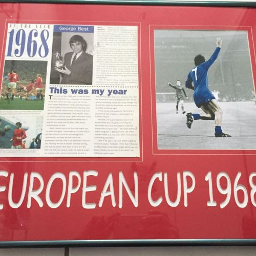 4cc2734ff George Best Manchester United European Cup Hand Signed Image (Framed)
