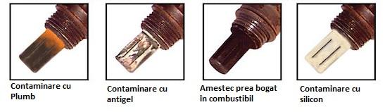 Sonde lambda contaminate