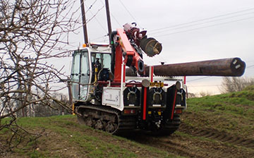 Terrain Master TC600 Utility Pole Erection Unit