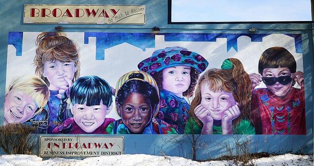 niños-mural-dibujo-multicultural-multiracial