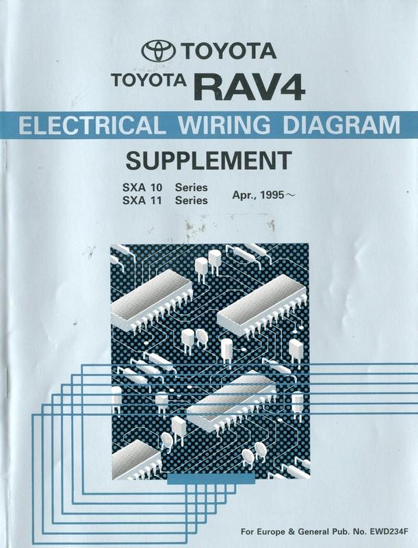 Toyota Rav4 Electrical Wiring Diagram Workshop Manual