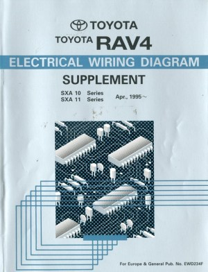 1995 TOYOTA RAV4 ELECTRICAL WIRING DIAGRAM WORKSHOP MANUAL ENGLISH