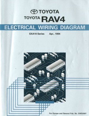 1994 TOYOTA RAV4 ELECTRICAL WIRING DIAGRAM WORKSHOP MANUAL