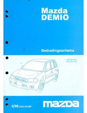 1998 MAZDA DEMIO ELECTRICAL WIRING DIAGRAM WORKSHOP MANUAL