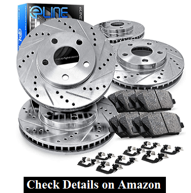For 2007-2018 Jeep Wrangler,Wrangler JK Front Rear Brake Rotors Kit