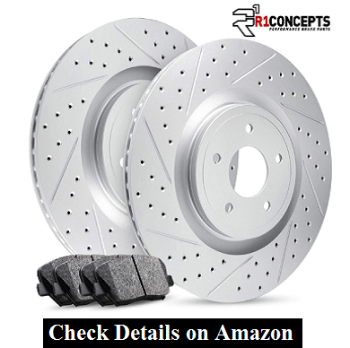 Front R1 Carbon GEOMET Series Drill Slot Brake Rotors Kit