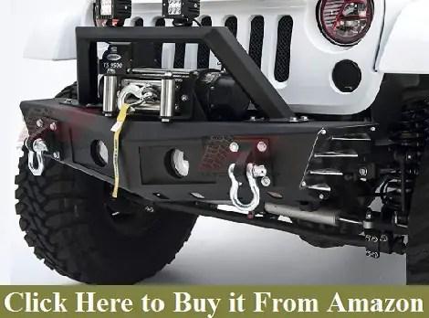 Razer Auto Black Textured Falcon III Rock Crawler Front Bumper with Factory OE