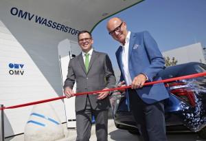 Eröffnung der OMV Wasserstofftankstelle in Asten