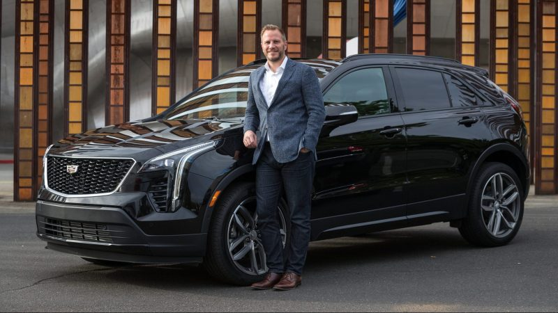 Felix Weller with the new Cadillac XT4