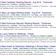 top 10 wedding hotels by TripAdvisor