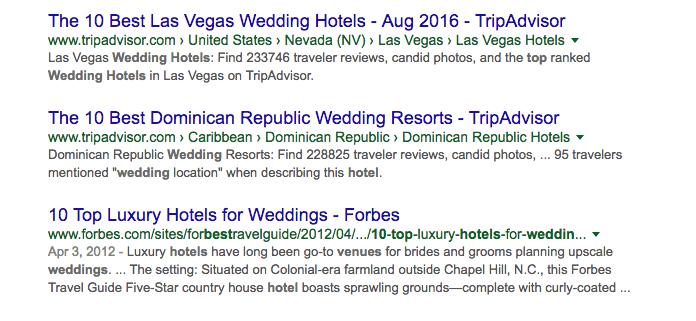 top 10 wedding hotels by TripAdvisor