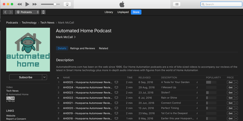 Automated Home Podcast