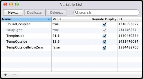 Indigo Variables
