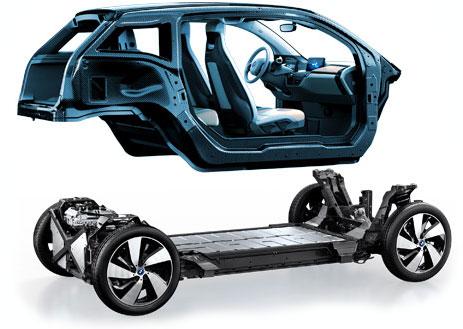 BMW i3 Chassis & Carbon Fibre Passenger Cell