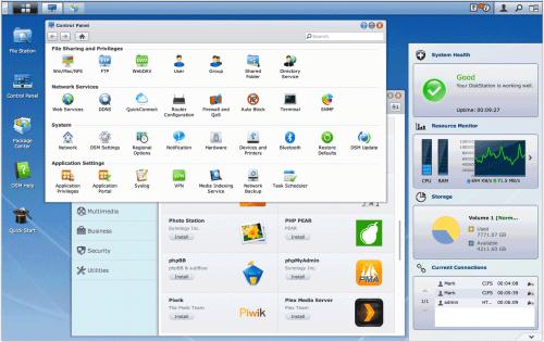 Synology 1813+ DSM Desktop