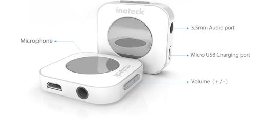Inateck BR1001 Bluetooth Receiver Diagram