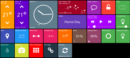 Review Smarttiles Puts Whole House Smartthings Dashboard