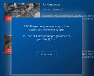 Sky Q App - BBC On Demand