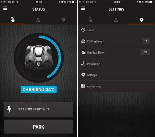 Husqvarna Automower Connect App