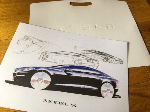Tesla Model S Print