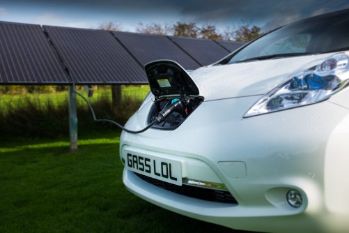 Nissan Leaf - Solar Powered Car?