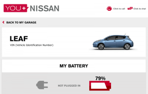 Nissan Leaf - Web Interface